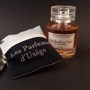 Coffret Noël Eau de Parfum Patchouli en Uzès 50 mL + Porte-clés